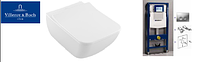 4611R001 Venticello Direct Flush унитаз подвесной с крышкой slimseat s/с  + Инсталяция GEBERIT 458.161.21.1