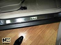 Накладки на пороги Premium Subaru Outback II 2000-2004
