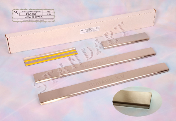 Накладки порогов Subaru XV 2012-