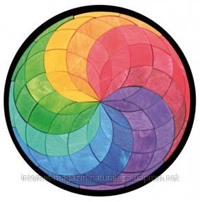 Магнитная цветная мозаика ТМ Grimms Большая спираль, фото 2