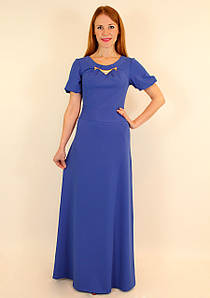 Длинное вечернее платье в пол (электрик, коралловый, темно-синий, ментол ) 42-48 р
