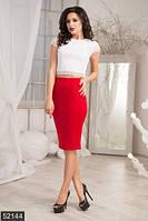 Нарядная гипюровая женская блузка с коротким рукавом