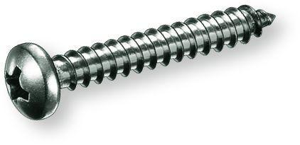 Саморез по металлу с полусферической головкой и острым концом DIN 7981