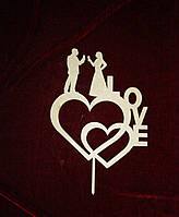 Топпер сердца с парой (23 х 29 см), декор