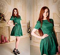 Элегантное женское платье с расклешенной юбкой однотонное. Разные цвета