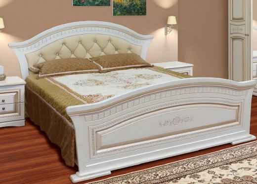 """Спальня , спальний гарнітур """"Ніколь"""" 1,6 м 2сп ліжко з м'яким узголів'ям"""