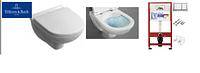 5660HR01 O.NOVO Direct Flush унитаз подвесной с крышкой s/c + Инсталяция TECE 9400006