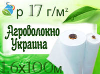 Агроволокно GrowTex р 17 г/м² ,1,6х100 м