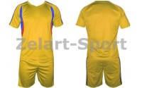Форма футбольная без номера подростковая CO-4587-Y (PL, р-р M-XL, желтая, шорты желтые)