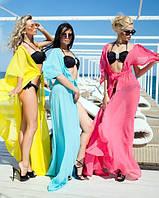 Летняя пляжная накидка-халат на купальник (23 цвета)