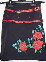 Юбка с вышивкой для девочки Маки с васельками