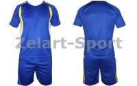Форма футбольная без номера подростковая CO-4587-В (PL, р-р M-XL, синяя, шорты синие)