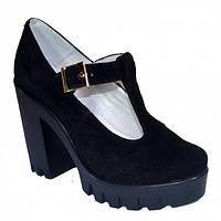 Туфли женские на тракторной подошве.