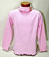 Гольфик розовый трикотажный с бантиком