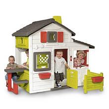 Великий будинок з горищем і дзвінком Smoby Friends House