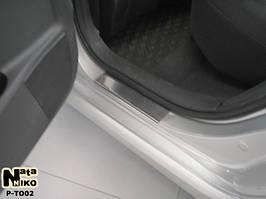 Накладки на пороги Premium Toyota Auris 5D 2007-