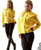 Женская весенняя ветровка желтая IO-366