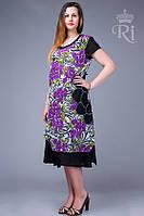 Женское летнее платье больших размеров, фото 1