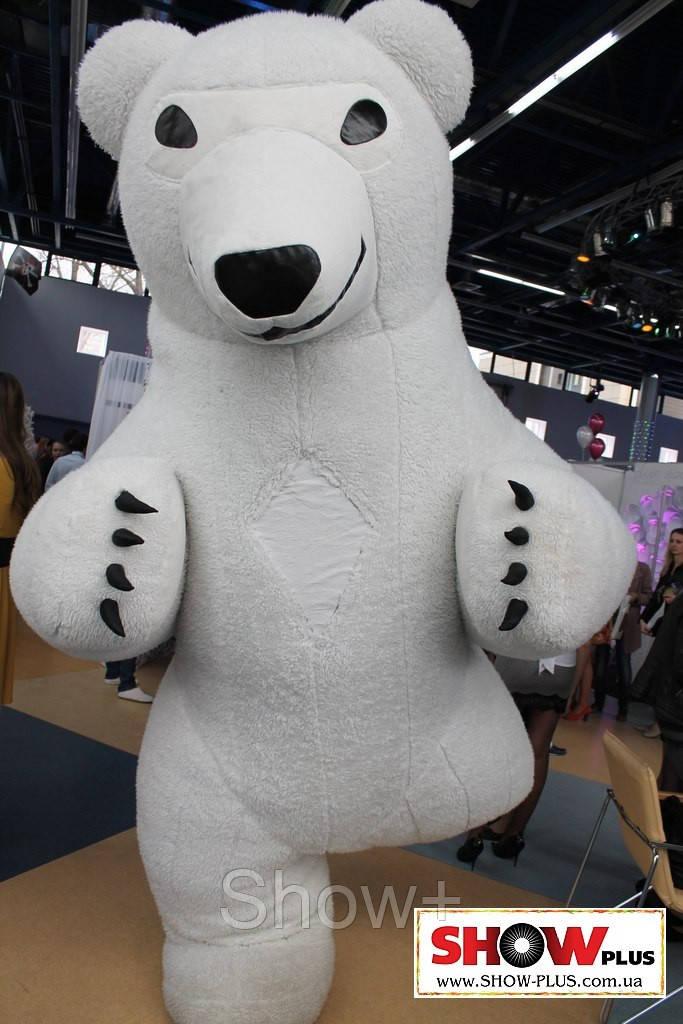Надувной костюм Белый медведь на прокат