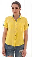 Рубашка летняя из хлопка с джинсом Z 5-1