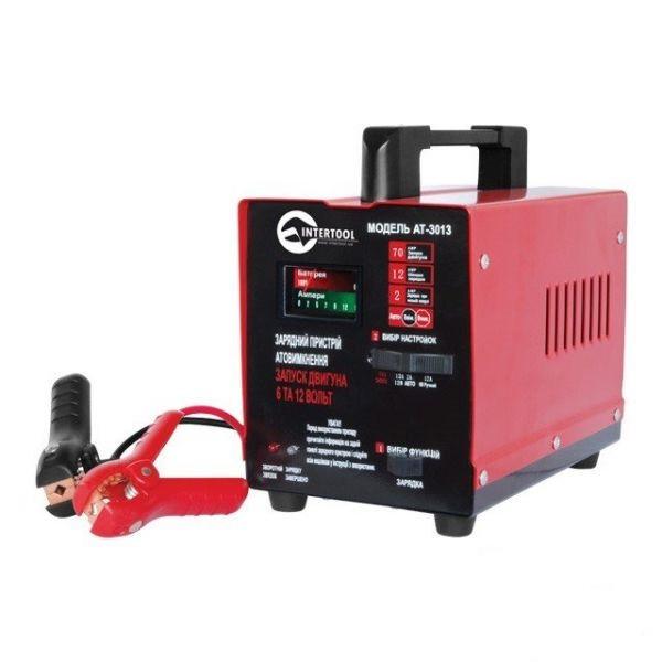Пуско-зарядное устройство Intertool AT-3013 6В-12В, 220В, 70А
