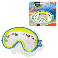 Маска для плавания детская, возраст от 3-х до 8-ми лет