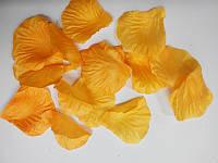 Лепестки роз искусственные желтые