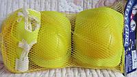 Защита, комплект желтый -  наколенники, налокотники, накладки на кисть
