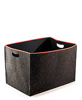 Коробка для хранения ДхШхВ: 30х20х20см складная войлочная с окантовкой