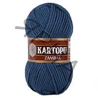 Пряжа Замбак (650-джинс),(Акрил(100%)),Картопу(Туреччина),100(гр),133(м)