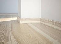 Плинтус Ясень белый матовий лак 58мм. Barlinek
