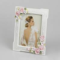 Свадебная керамическая фоторамка сцветами