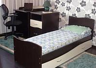 Детская кроватка трансформер Волна с пеленатором бежевая