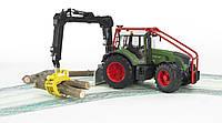 Игрушка Bruder Трактор Fendt 936 Vario лесной с манипулятором 1:16  (03042), фото 1