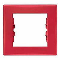 Рамка 1-постовая красная Sedna Schneider Electric