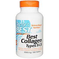 Лучший коллаген 1 и 3 типа, Doctor's Best, 1000 мг, 180 таблеток