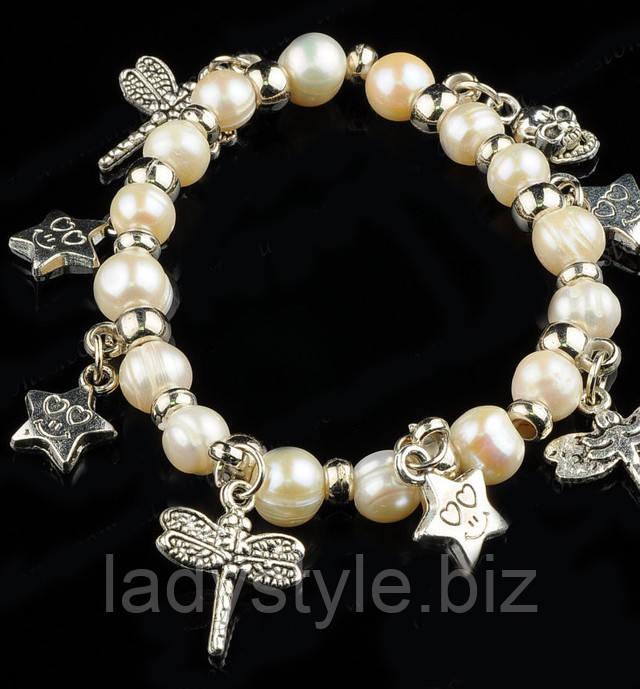 купить украшения из натурального жемчуга, жемчуг браслет, серьги к юбилею купить