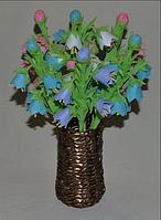 Сувенир ваза с весенними цветами. Оригинальный подарок, женщине на 8 марта