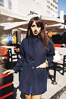 Осеннее женское кашемировое пальто с карманами