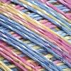 Yarnart Summer № 124 желтый+розовый+голубой меланж