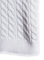 Хлопковый детский плед 90х120 «Белоснежный» белый