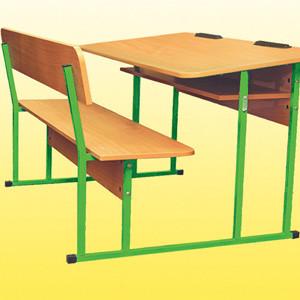 двухместный комплект ученической мебели монолит