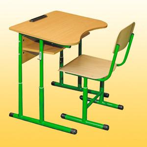 одноместный комплект ученической мебели