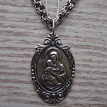 Серебряная подвеска-ладанка Пресвятая Богородица, фото 2