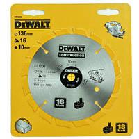 """Пильний диск 136мм внутр. 10мм z-16 """"DeWALT"""""""