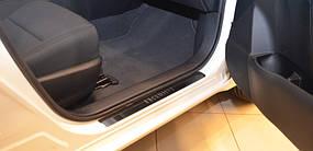 Накладки на пороги Premium Toyota Tundra CrewMax 2008-