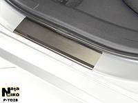 Накладки на пороги Premium Toyota Auris 2013-