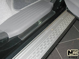 Накладки на пороги Premium Toyota Hilux II 4D 2005-