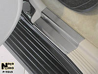 Накладки на пороги Premium Toyota Land Cruiser 100 1998-2007