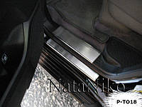 Накладки на пороги Premium Toyota Land Cruiser 200 2008-